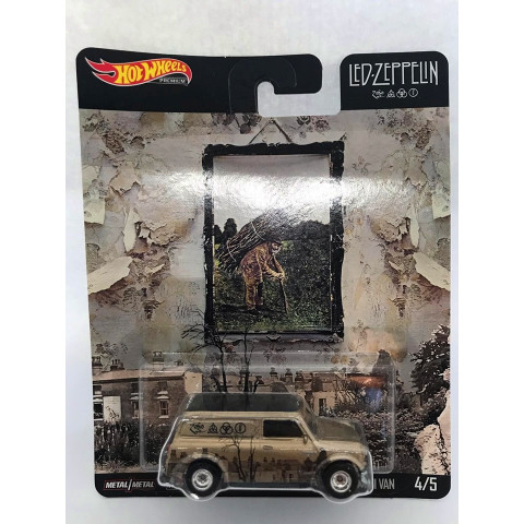 Hot Wheels - 67 Austin Mini Van Cromo - Led Zeppelin - Pop Culture