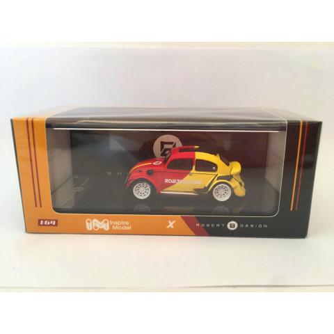 Inspire Model - Volkswagen RWB Beetle Vermelho/Amarelo - Robert Design - Limited Edition 1000pc