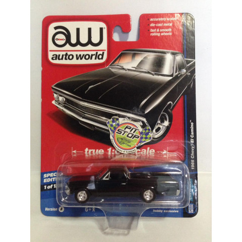 Auto World - 1966 Chevy El Camino Preto - Deluxe Series