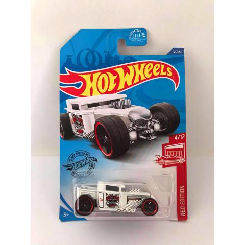 Hot Wheels - Bone Shaker Branco - Red Edition 2020 Target Exclusivo