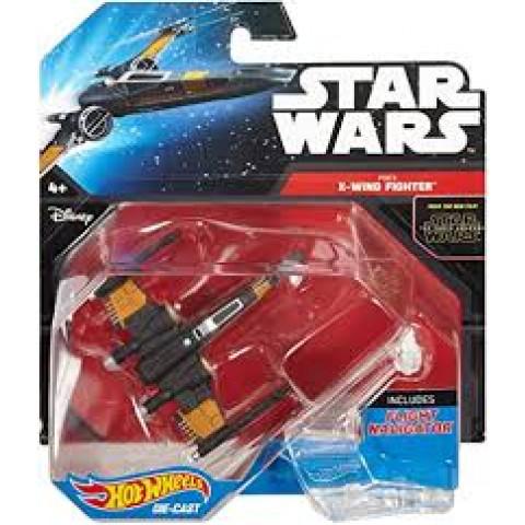 Hot Wheels - Poe´s X-Wing Fighter Preto - Star Wars