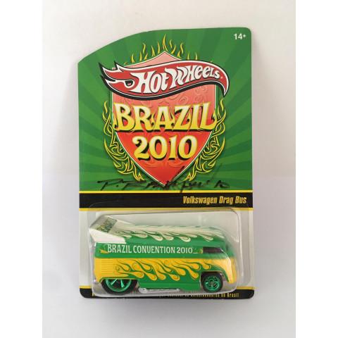 Hot Wheels - Volkswagen Drag Bus - Brazil Convention Anual 2010 - Autografada Phil Riehlman
