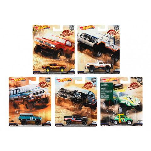 Hot Wheels - Set Desert Rally 2019 - Completo 5 Miniaturas - HW Premium - Car Culture
