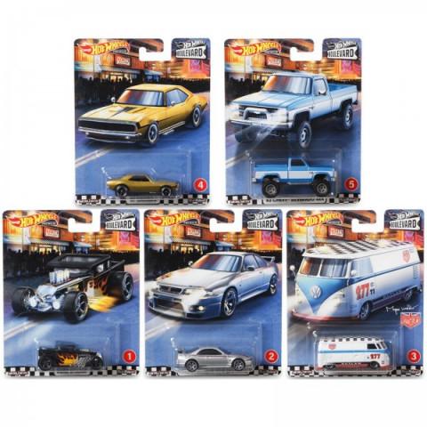 Hot Wheels - Set Boulevard - Conjunto A Completo Com 5 Miniaturas - Boulevard 2020