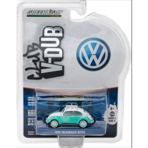 Greenlight - 1946 Volkswagen Beetle Verde c/ Prancha - Club V-Dub