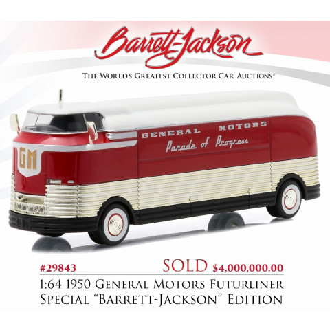 Greenlight - 1950 General Motors Futurliner - Barrett-Jackson - Hobby Exclusive