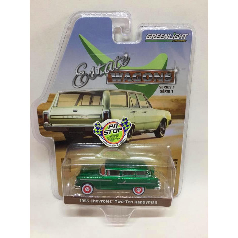 Greenlight - 1955 Chevrolet Two-Ten Handyman Verde - Estate Wagons - Greenmachine