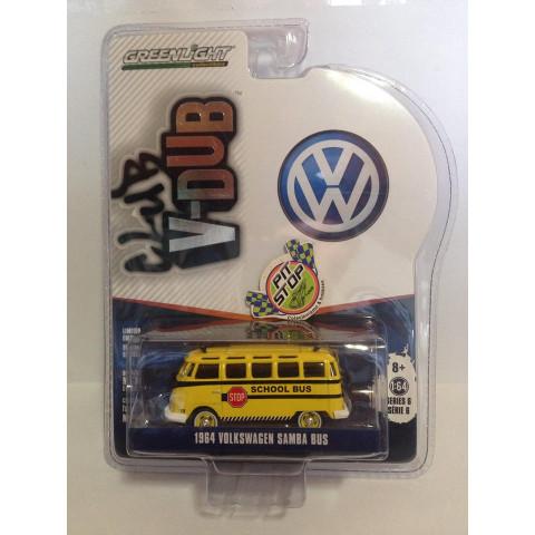 Greenlight - 1964 Volkswagen Samba Bus Amarelo - Club V-Dub