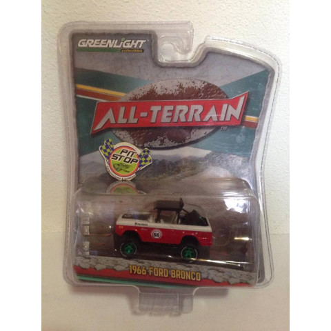 Greenlight - 1966 Ford Bronco Vermelho - All-Terrain - Greenmachine