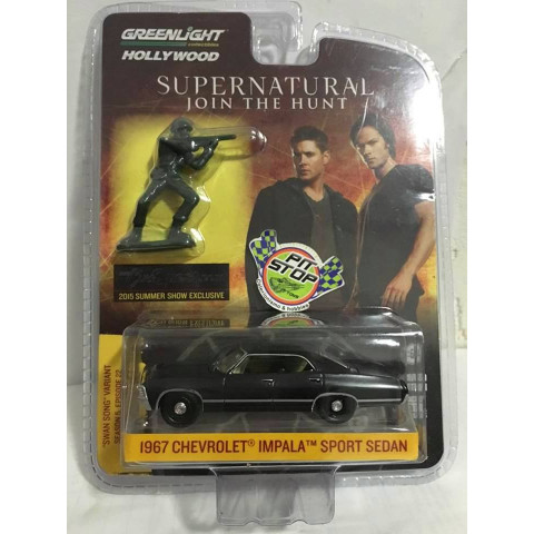 Greenlight - 1967 Chevrolet Impala Sport Sedan - Supernatural - 2015 Summer Show Exclusive - 1 of 2500