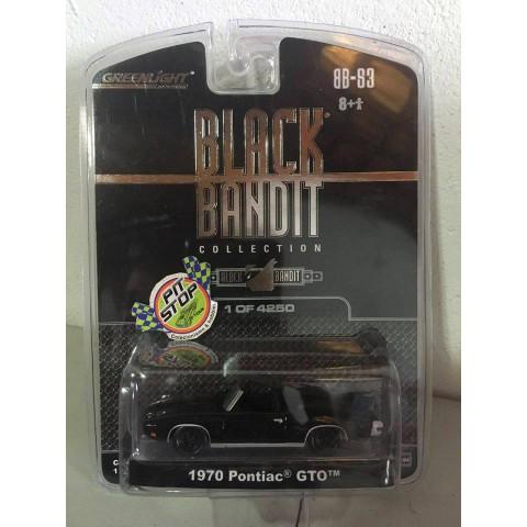 Greenlight - 1970 Pontiac GTO Preto - Black Bandit