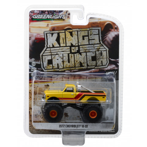 Greenlight - 1972 Chevrolet K-10 Amarelo - Kings of Crunch