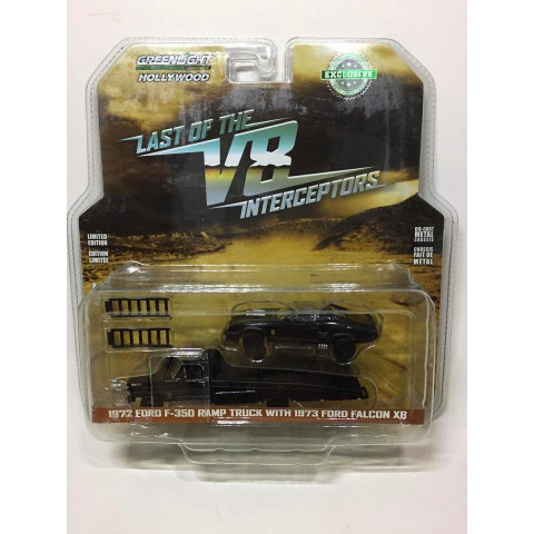 Greenlight - 1972 Forf F-350 Ramp Truck with 1973 Ford Falcon XB - Last of The V8 Interceptors