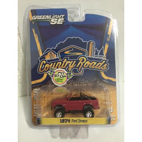 Greenlight - 1974 Ford Bronco Vermelho - Country Roads