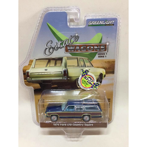 Greenlight - 1979 Ford LTD Country Squire Azul - Estate Wagons