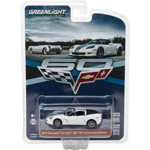 Greenlight - 2013 Chevrolet Corvette Z06 60 Anniversary Edition Branco - 60 Years