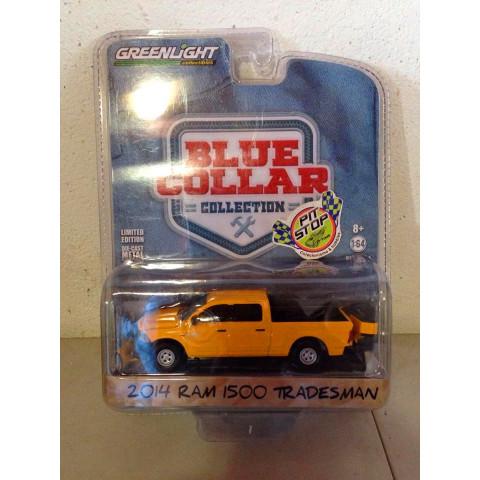 Greenlight - 2014 Ram 1500 Tradesman Amarelo - Blue Collar