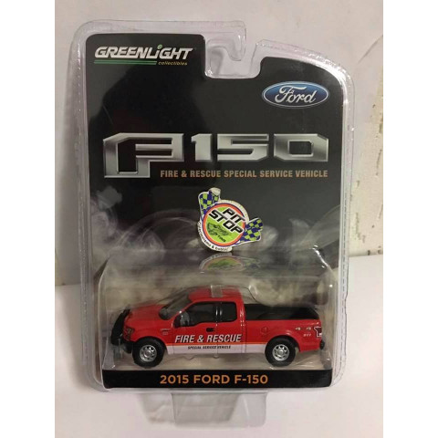 Greenlight - 2015 Ford F-150 Vermelho - Fire & Rescue Special Service Vehicle