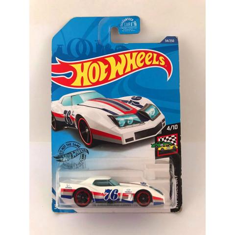 Hot Wheels - 76 Greenwood Corvette Branco - Kroger Exclusivo 2020