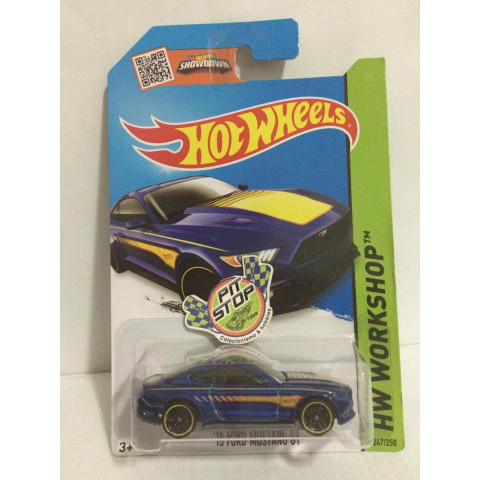 Hot Wheels - 15 Ford Mustang GT Azul - Mainline 2015