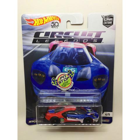Hot Wheels - 16 Ford GT Race Azul - Circuit Legends