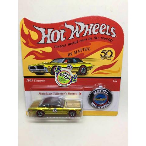 Hot Wheels - 1968 Cougar Dourado - 50th
