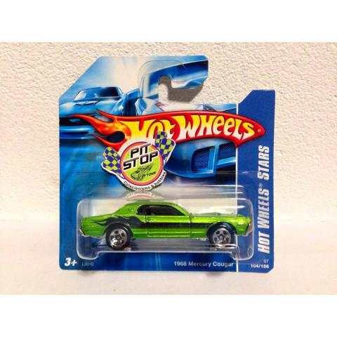 Hot Wheels - 1968 Mercury Cougar Verde - Mainline 2007