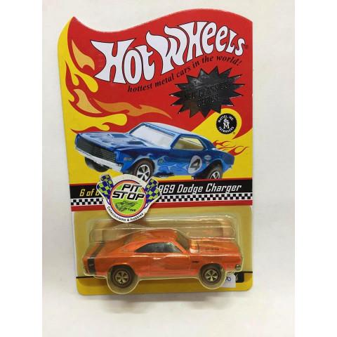 Hot Wheels - 1969 Dodge Charger Laranja - Neo-Classics Series