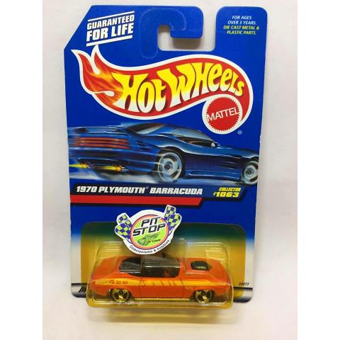 Hot Wheels - 1970 Plymouth Barracuda Laranja - Mainline 1999