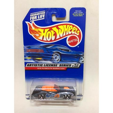 Hot Wheels - 1970 Plymouth Barracuda Preto - Mainline 1998