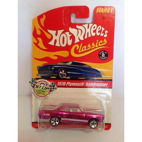 Hot Wheels - 1970 Plymouth Roadrunner Rosa - Classics