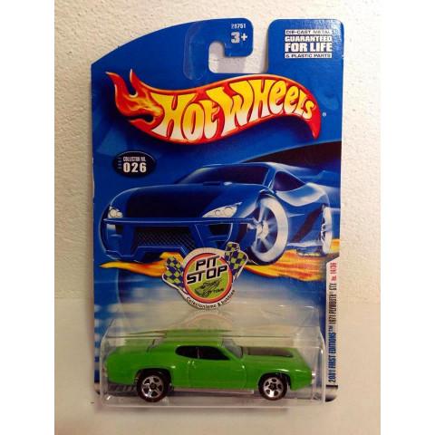 Hot Wheels - 1971 Plymouth GTX Verde -  Mainline 2001
