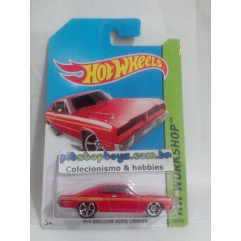 Hot Wheels - 1974 Brazilian Dodge Charger Vermelho - Mainline 2014