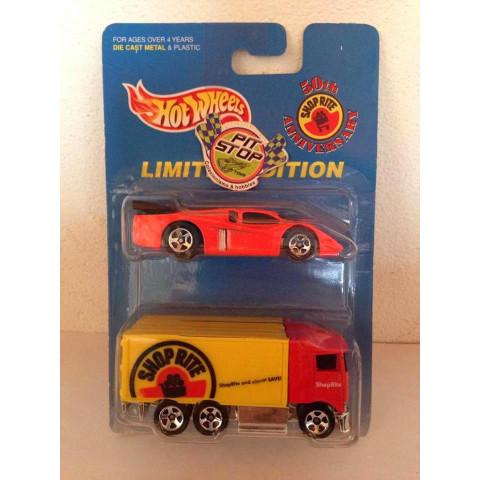 Hot Wheels - 2 Pack - Hiway Hauler Vermelho - 50th Anniversary - Limited Edition