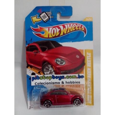 Hot Wheels - 2012 Volkswagen Beetle Vermelho - Mainline 2012