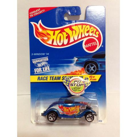 Hot Wheels - 3-Window 34 Azul - Mainline 1997