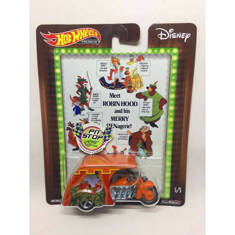 Hot Wheels - 3D-Livery Laranja - Disney - Meet Robin Hood and his Merry Menagerie