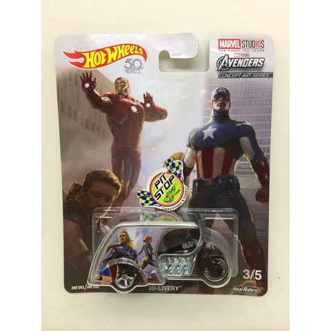 Hot Wheels - 3D-Livery Preto - Marvel Studios - 50th Anniversary