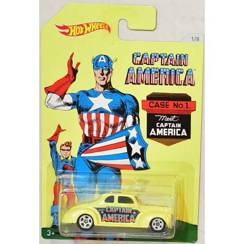 Hot Wheels - 40 Ford Coupe Amarelo - Capitão América - Captain América