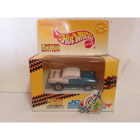 Hot Wheels - 55 Chevy Azul - Jc Whitney
