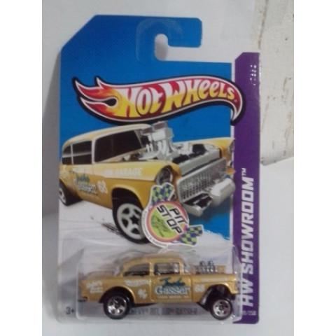 Hot Wheels - 55 Chevy Bel Air Gasser Dourado - Mainline 2013