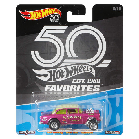 Hot Wheels - 55 Chevy Bel Air Gasser Rosa - Favorites 50 Years