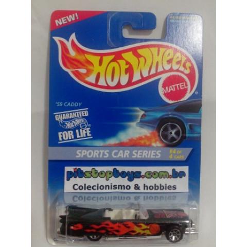 Hot Wheels - 59 Caddy Preto - Mainline