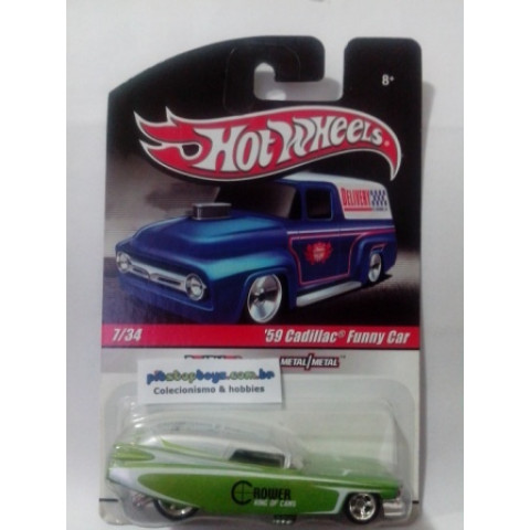 Hot Wheels - 59 Cadillac Funny Car Verde - Série Delivery