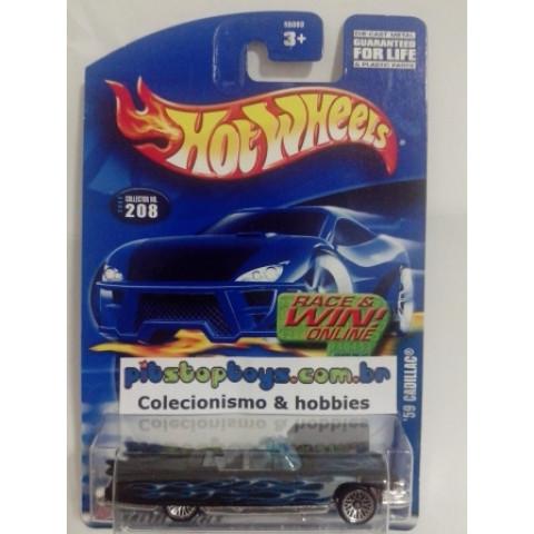 Hot Wheels - 59 Cadillac Preto - Mainline 2002
