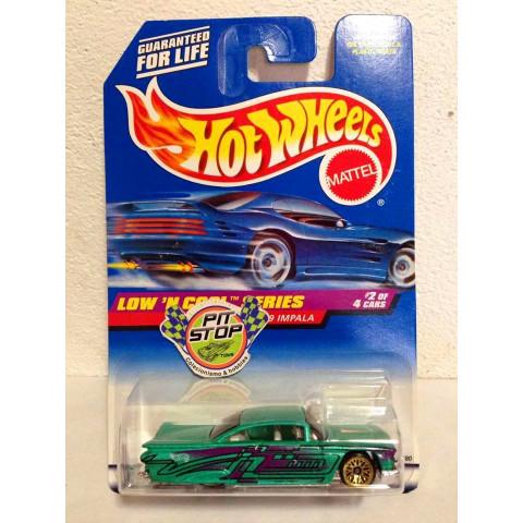 Hot Wheels - 59 Impala Verde - Mainline 1998