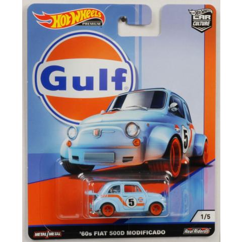 Hot Wheels - 60s Fiat 500D Modificado Azul - Gulf