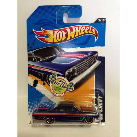 Hot Wheels - 62 Chevy Azul - Mainline 2012