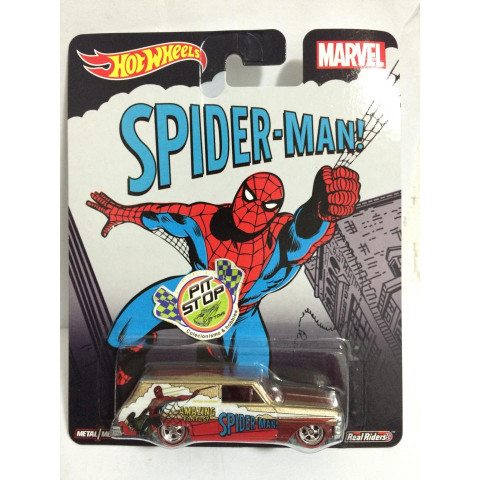 Hot Wheels - 64 Chevy Nova Delivery - Pop Culture - Spider-Man