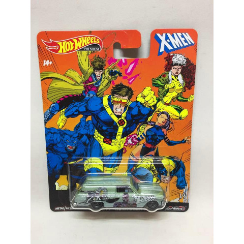 Hot Wheels - 64 Chevy Nova Delivery Verde - X-Men - HW Premium